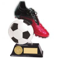 Control Football Trophy Award Acrylic Plaque 160mm