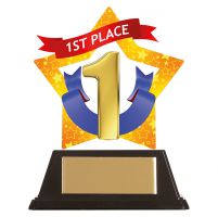 Mini-Star 1st Place Acrylic Plaque 100mm : New 2019