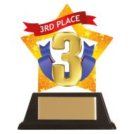 Mini-Star 3rd Place Acrylic Plaque 100mm : New 2019