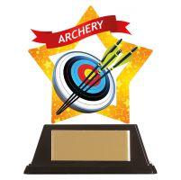 Mini-Star Archery Acrylic Plaque 100mm : New 2019