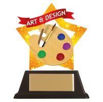 Mini-Star Art and Design Acrylic Plaque 100mm : New 2019