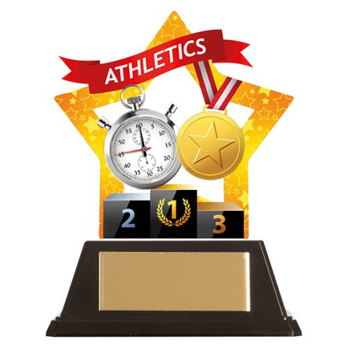 Mini-Star Athletics Acrylic Plaque 100mm : New 2019