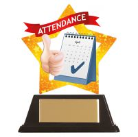 Mini-Star Attendance Acrylic Plaque 100mm : New 2019