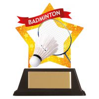 Mini-Star Badminton Acrylic Plaque 100mm : New 2019