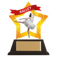 Mini-Star Ballet Acrylic Plaque 100mm : New 2019