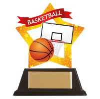 Mini-Star Basketball Acrylic Plaque 100mm : New 2019