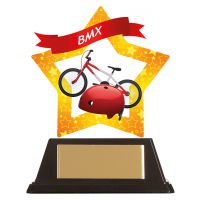 Mini-Star BMX Acrylic Plaque 100mm : New 2019