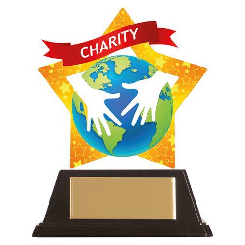 Mini-Star Charity Acrylic Plaque 100mm : New 2019