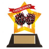 Mini-Star Cheerleader Acrylic Plaque 100mm : New 2019