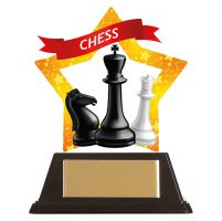 Mini-Star Chess Acrylic Plaque 100mm : New 2019