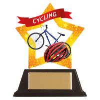 Mini-Star Cycling Acrylic Plaque 100mm : New 2019