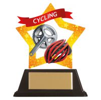 Mini-Star Cycle and Helmet Acrylic Plaque 100mm : New 2019