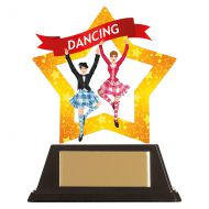 Mini-Star Highland Dance Acrylic Plaque 100mm : New 2019