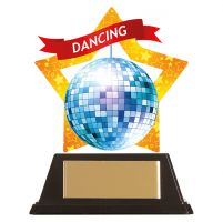 Mini-Star Glitter Ball Acrylic Plaque 100mm : New 2019