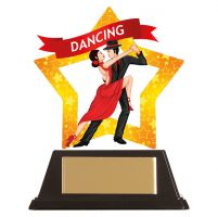 Mini-Star Ballroom Dance Acrylic Plaque 100mm : New 2019