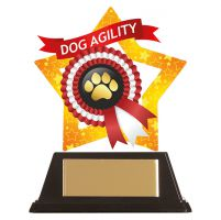 Mini-Star Dog Paw Acrylic Plaque 100mm : New 2019