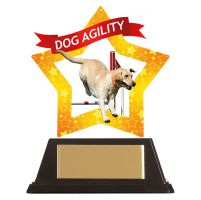 Mini-Star Dog Agility Acrylic Plaque 100mm : New 2019
