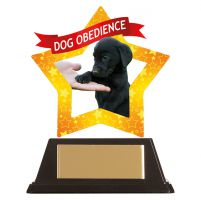 Mini-Star Dog Obedience Acrylic Plaque 100mm : New 2019
