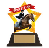 Mini-Star Equestrian Acrylic Plaque 100mm : New 2019