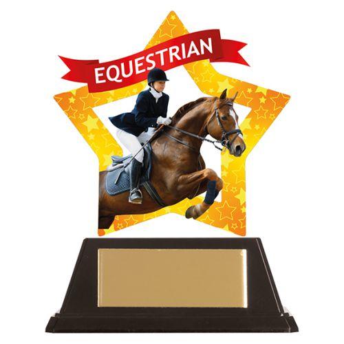Mini-Star Equestrian Acrylic Plaque 100mm : New 2019