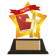 Mini-Star Faith Acrylic Plaque 100mm : New 2019