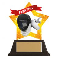 Mini-Star Fencing Acrylic Plaque 100mm : New 2019