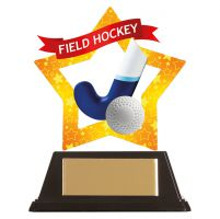 Mini-Star Field Hockey Acrylic Plaque 100mm : New 2019