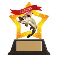 Mini-Star Fishing Acrylic Plaque 100mm : New 2019