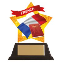 Mini-Star French Acrylic Plaque 100mm : New 2019