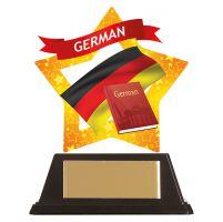 Mini-Star German Acrylic Plaque 100mm : New 2019