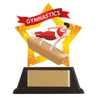 Mini-Star Gymnastics Acrylic Plaque Male 100mm : New 2019
