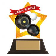Mini-Star Lawn Bowls Acrylic Plaque 100mm : New 2019