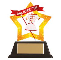 Mini-Star Majorette Acrylic Plaque 100mm : New 2019