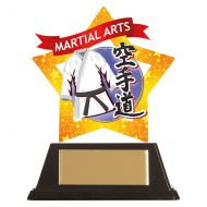 Mini-Star Karate Acrylic Blue Plaque 100mm : New 2019