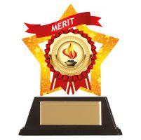 Mini-Star Merit Acrylic Plaque 100mm : New 2019