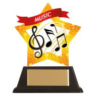 Mini-Star Music Acrylic Plaque 100mm : New 2019