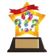 Mini-Star Quiz Acrylic Plaque 100mm : New 2019