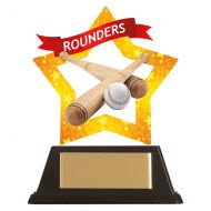 Mini-Star Rounders Acrylic Plaque 100mm : New 2019