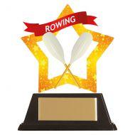 Mini-Star Rowing Acrylic Plaque 100mm : New 2019