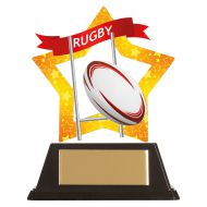 Mini-Star Rugby Acrylic Plaque 100mm : New 2019