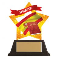 Mini-Star Spanish Acrylic Plaque 100mm : New 2019