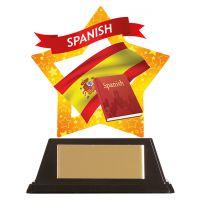 Mini-Star Spanish Acrylic Plaque 100mm : New 2019