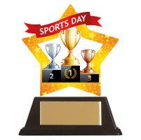 Mini-Star Sports Day Acrylic Plaque 100mm : New 2019