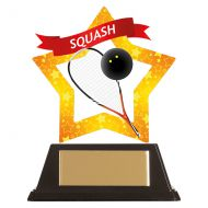 Mini-Star Squash Acrylic Plaque 100mm : New 2019