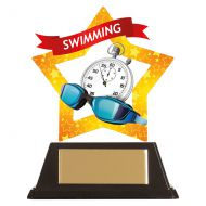 Mini-Star Swimming Acrylic Plaque 100mm : New 2019