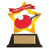 Mini-Star Table Tennis Acrylic Plaque 100mm : New 2019