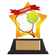 Mini-Star Tennis Acrylic Plaque 100mm : New 2019