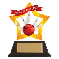 Mini-Star Tenpin Bowling Acrylic Plaque 100mm : New 2019