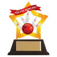 Mini-Star Tenpin Bowling Acrylic Plaque 100mm : New 2019