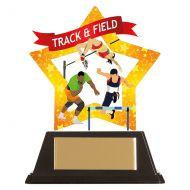 Mini-Star Track and Field Acrylic Plaque 100mm : New 2019
